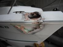 how to find a crack in a fiberglass boat